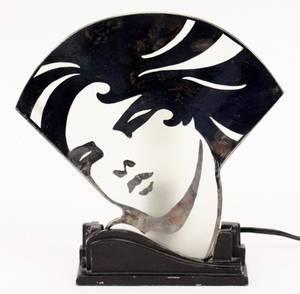Frankart Figural Lamp Silhouette Girl L234