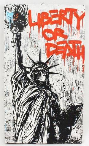 Contemporary Mixed Media Work Liberty or Death