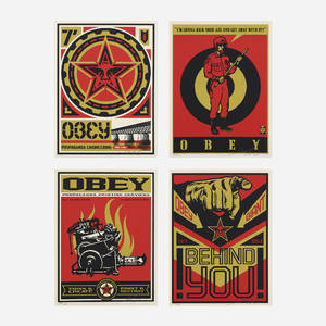 Shepard Fairey   set of four works from 20 Year Supply and Demand Box Set
