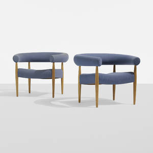 Nanna and Jrgen Ditzel   Ring lounge chairs pair
