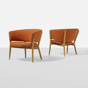 Nanna and Jrgen Ditzel   lounge chairs pair