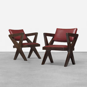 Pierre Jeanneret   pair of chairs from Chandigarh