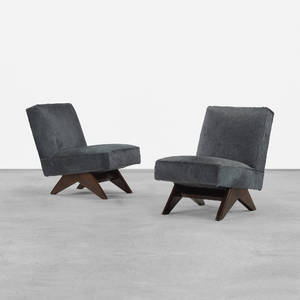 Pierre Jeanneret   pair of lounge chairs from Punjab University Chandigarh