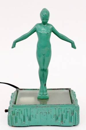 Frankart Figural Nude Lamp L213