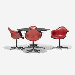 Charles and Ray Eames   650 dining table and set of four PAC1s