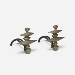 After Alberto Giacometti   andirons pair
