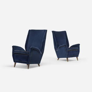 Gio Ponti   lounge chairs pair