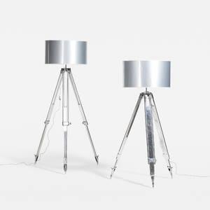 Modern   floor lamps pair