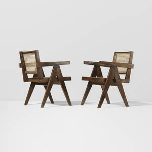 Pierre Jeanneret   pair of armchairs from Chandigarh