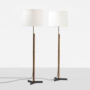 Danish   adjustable floor lamps pair