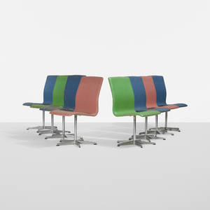 Arne Jacobsen   Oxford dining chairs set of eight