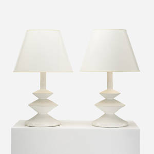 Alberto Giacometti and JeanMichel Frank attribution   table lamps pair