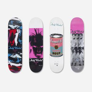 Andy Warhol 19281987  skateboard decks set of four