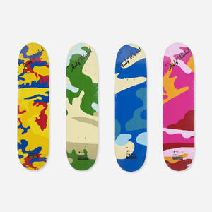 Andy Warhol 19281987  Urban Camoflauge skateboard decks set of four