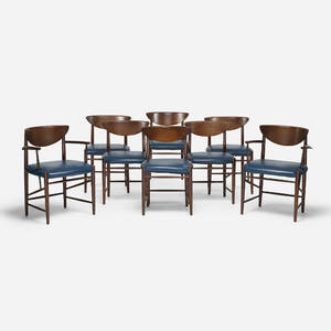 Peter Hvidt and Orla MlgaardNielsen   dining chairs set of eight