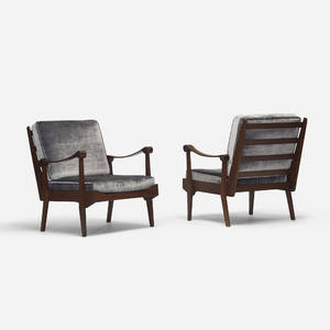 Italian   lounge chairs pair