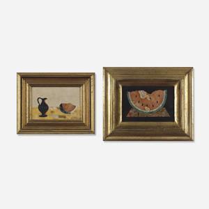 G Ugolini and Bruno Fantechi   Pietra Dura plaques pair