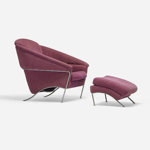 Milo Baughman   Boldido lounge chair and ottoman