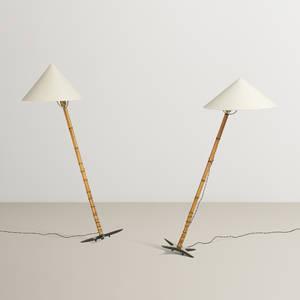 Carl Aubck   floor lamps pair