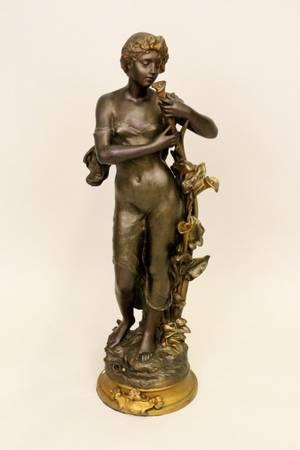 Art Nouveau Bronze Figural Statue