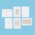 Lawrence Laske   set of twentyfour fullscale Toothpick table drawings for Knoll