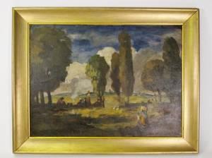Bela Ivanyi Grunwald Figural Oil Painting