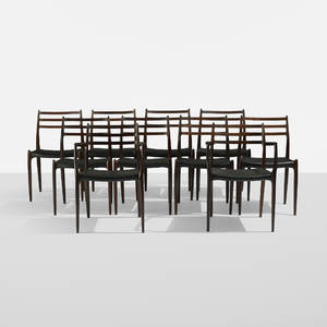 Niels O Mller   dining chairs set of ten
