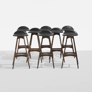Erik Buck   stools model OD61 set of eight