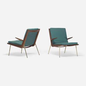 Peter Hvidt and Orla MlgaardNielsen   Boomerang lounge chairs pair