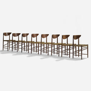 Peter Hvidt and Orla MlgaardNielsen   dining chairs model 316 set of eight