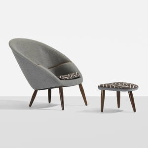 Nanna and Jrgen Ditzel   lounge chair and ottoman
