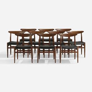 Hans J Wegner   dining chairs set of ten