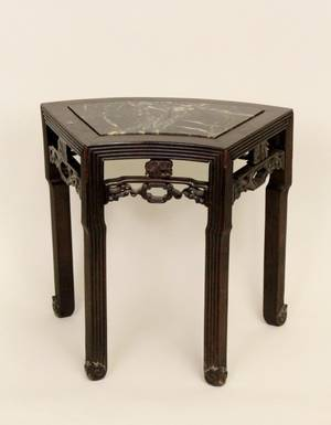 Small Chinese Marble Top Side Table