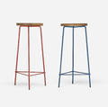 Pierre Jeanneret   pair of stools from the College of Architecture Chandigarh