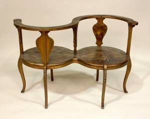 19th C Partners Bench