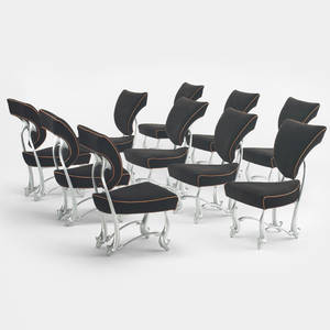Jordan Mozer   set of ten Ballet chairs from the DAlba Residence Glencoe