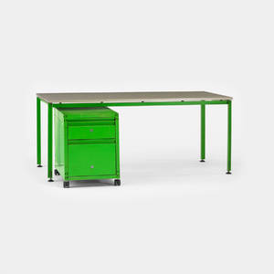 Michel Cadestin and Georges Laurent   desk and file cabinet from the administrative offices at the Centre Georges Pompidou
