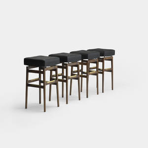Gianfranco Frattini and Gio Ponti   set of four bar stools from the Hotel Parco dei Principi Rome