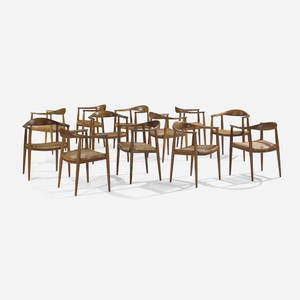 Hans J Wegner   The Chairs set of twelve