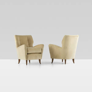 Gio Ponti   pair of armchairs from the Hotel Bristol Merano