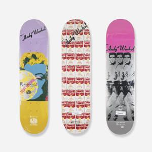 Andy Warhol   skateboard decks set of three