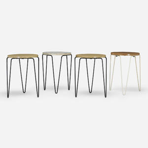 Florence Knoll   Stacking stools set of four
