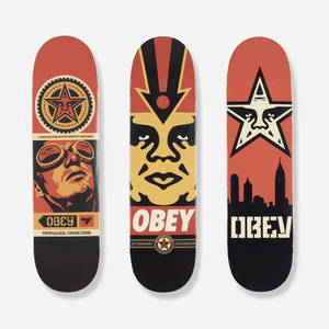 Shepard Fairey   skateboard decks set of three