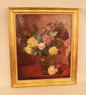 L 19thE 20th C French Oil on Canvas