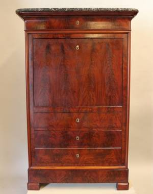 19th C French Secretaire Abatant