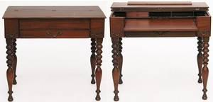 73 American Mahogany Empire Desk Converted From Piano