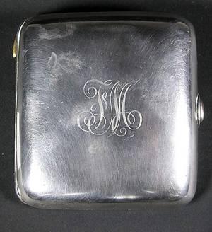 78 Tiffany  Company Sterling Cigarette Case