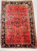 108 Semi Antique Sarouk Persian Carpet Floral Design