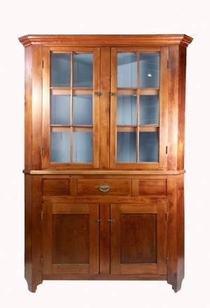 American 19th Century Cherry Corner Cabinet