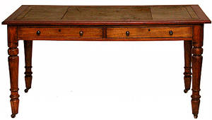 188 19th Century English Desk With A Leather Top
